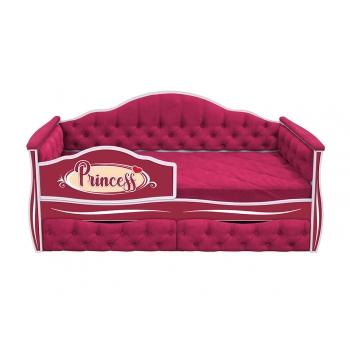 Кровать-диван для девочек ИЛЛЮЗИЯ с двумя ящиками (183х88)