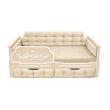 Кровать-диван для мальчиков СПОРТ с двумя ящиками (173х88)