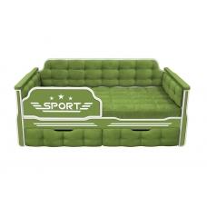Кровать-диван для мальчиков СПОРТ с двумя ящиками (183х88)
