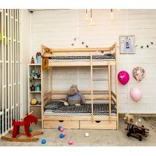 Детская кровать Altezza двухъярусная с ящиками