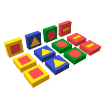 Развивающий мягкий модуль «Обучающие фигуры»