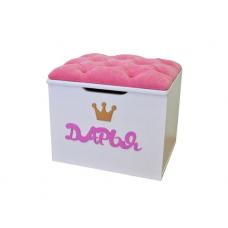 Ящик-Пуфик серии ИЛЛЮЗИЯ розовый