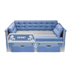Кровать серии СПОРТ с двумя ящиками (188х85)