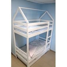 "Кроватка-домик ""Двухъярусная"" 160x80"