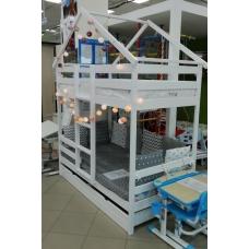 Кроватка-домик «Двухъярусная Особая» 160x80