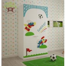 Шкаф 2-х створчатый Смурфы на футболе Выставочный образец