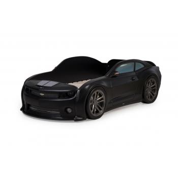 Кровать-машинка объемная (3d) EVO Camaro Черный матовый