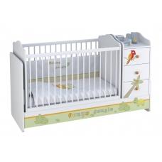 Кроватка детская Polini kids Basic с комодом