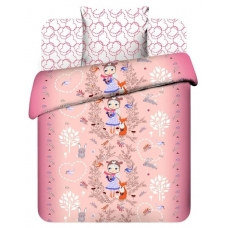 Комплект постельного белья 1,5сп бязь Лесная прогулка