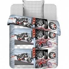 Комплект постельного белья 1,5сп бязь Мотокросс
