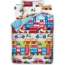 Комплект постельного белья 1,5сп бязь Автопарк