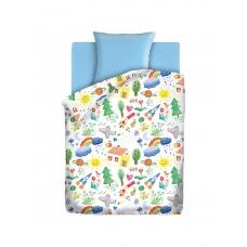 Комплект постельного белья 1,5сп бязь Радуга