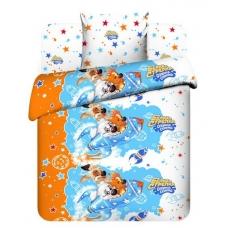 Комплект постельного белья 1,5сп бязь Белка и Стрелка