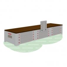 Скамья гимнастическая для измерения гибкости ROMANA 203.03.03