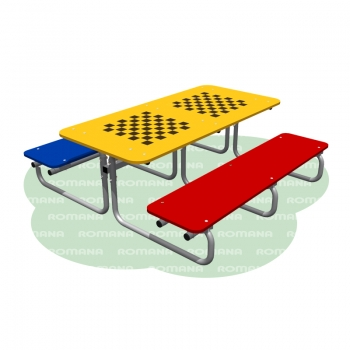 Столик со скамьями шахматный
