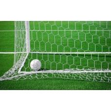 Сетка для футбольных ворот FIFA (7,50м х 2,50м ) шестигранная, d=5.0мм /пара