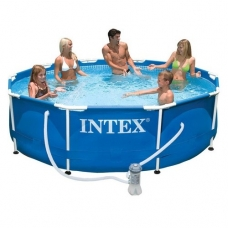 Бассейн каркасный Intex 28202 (305Х76см)+насос-фильтр