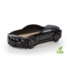 """Кровать-машина """"Мустанг"""" 3D (объемная пластиковая) черная"""