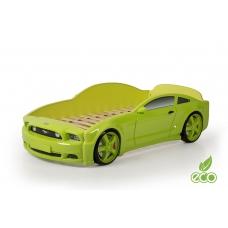 """Кровать-машина """"Мустанг"""" 3D (объемная пластиковая) зеленая"""