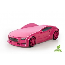 """Кровать-машина объемная (3d) NEO """"Мерседес"""" розовый"""