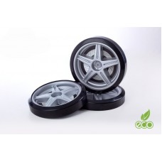 Объемные пластиковые колеса для серии LIGHT,(комп. 2 шт.)серебро
