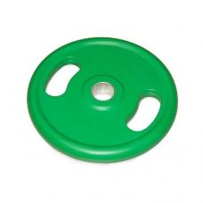 Диск обрезиненный с ручками Larsen NT121NC 50 мм 10 кг зеленый