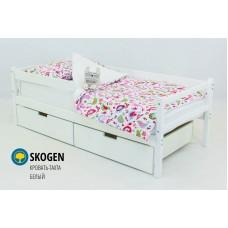 Детская деревянная кровать-тахта  «SKOGEN БЕЛЫЙ»