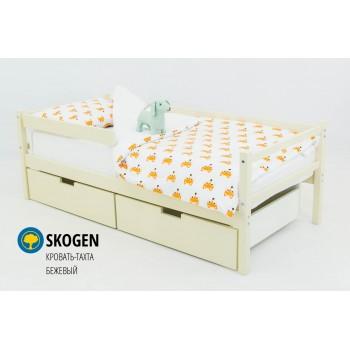 Детская деревянная кровать-тахта  «SKOGEN БЕЖЕВЫЙ»