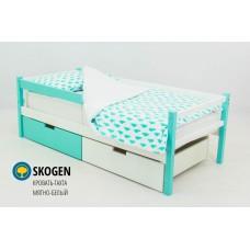 Детская деревянная кровать-тахта «SKOGEN МЯТНО-БЕЛЫЙ»