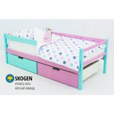 Детская деревянная кровать-тахта «SKOGEN МЯТНЫЙ-ЛАВАНДА»