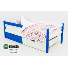 Детская деревянная кровать-тахта  «SKOGEN СИНЕ-БЕЛЫЙ»