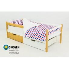 Детская деревянная кровать-тахта «SKOGEN ДЕРЕВО-БЕЛЫЙ»