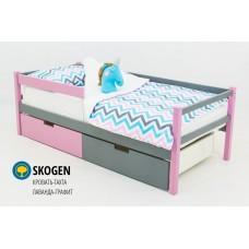 Детская деревянная кровать-тахта «SKOGEN ЛАВАНДА-ГРАФИТ»