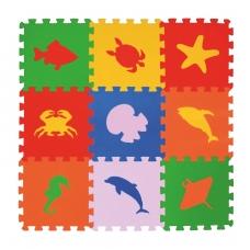 Мягкий пол универсальный ECO COVER, Морские животные (9 пазлов)