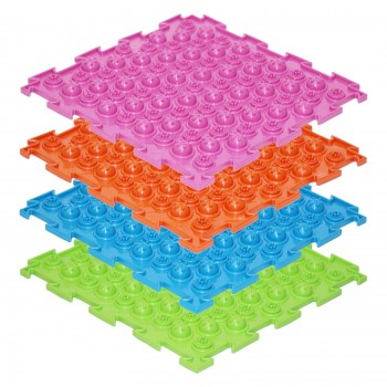 Модульные коврики ОРТО, набор Акупунктурные мягкие (8 пазлов)