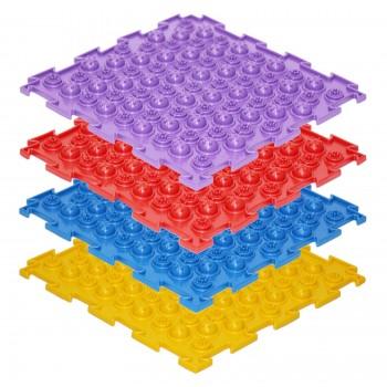 Модульные коврики ОРТО, набор Акупунктурные жёсткие (8 пазлов)