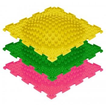 Модульные коврики ОРТО, набор ОСТРОВОК жёсткий (3 пазла)