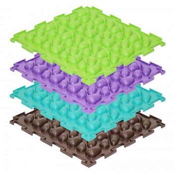 Модульные коврики ОРТО, набор Жёлуди жёсткие (8 пазлов)
