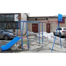Спортивно-игрой комплекс Plastep ГИМНАСТ горка нержавейка