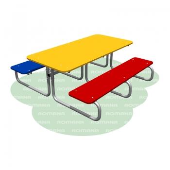Столик со скамьями детский