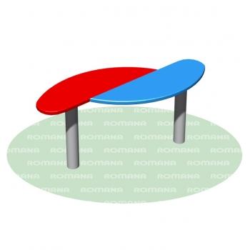 Столик для песочницы двойной