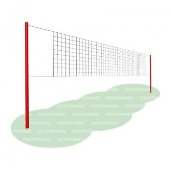 Волейбольная сетка со стойками