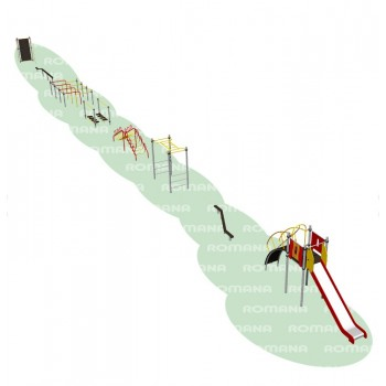 Полоса препятствий для проведения школьных соревнований (8 элементов)