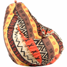 """Кресло-мешок """"Груша"""" - Принт Африкан"""