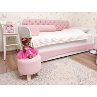 Тахта детская Нежно Розовый мягкий фасад