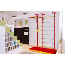 Детский спортивный комплекс «ЮНЫЙ АТЛЕТ» модель «Пол-потолок с сеткой»