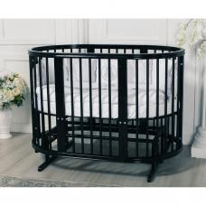 Кровать-люлька Incanto Estel Exclusive Black Diamond 8 в 1, цвет чёрный матовый