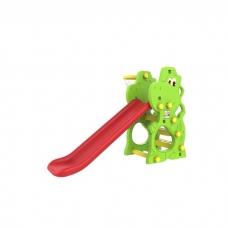 Горка детская «Динозаврик» с баскетбольным кольцом