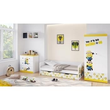 Детская комната Миньоны: кровать выдвижная 4200+комод