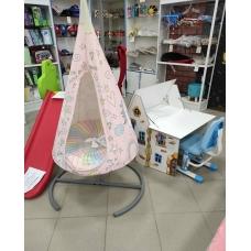 Подвесное кресло-гамак комплект со стойкой Единороги